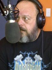 "Phil Wright in the Mix93.8fm studios during the ""reunion"" of the original Rockfest presenters, in December, together with Chris Prior, Rafe Lavine, David Blood and myself. RIP Phil - you were our brother in rock"